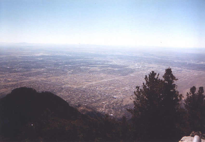 Albuquerque from 10,000 feet