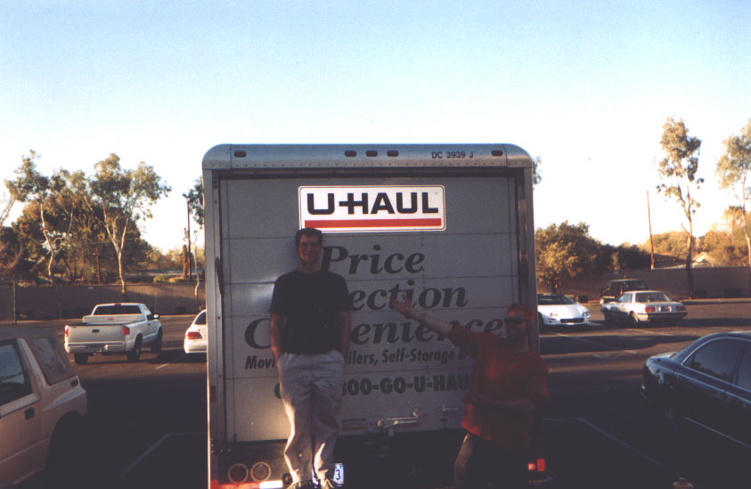 U-Haul makes for one boring scene after hundres of miles